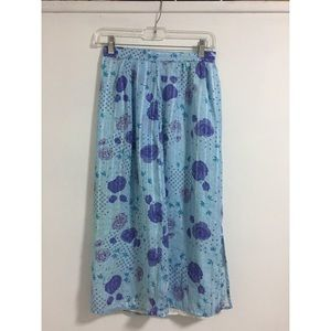 Vintage Blue and Purple Skirt Sz Small